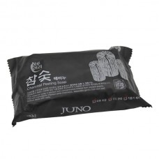 JUNO peeling soap for hands and body with Coal and Grain extracts, 150 g