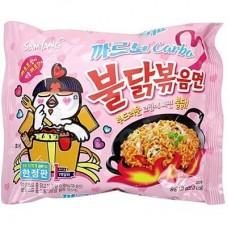 SAMYANG Buldak Bokkeum Myeon Carbonara Spicy Chicken Ramen with Carbonara Flavor 130 gr