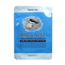 FarmStay Visible Difference Mask Sheet Bird's Nest Swallow's Nest Mask 23 ml